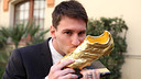 Messi's second Golden Boot award