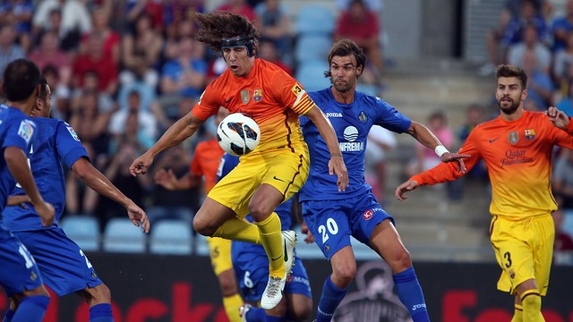 Puyol against Getafe / PHOTO: MIGUEL RUIZ - FCB