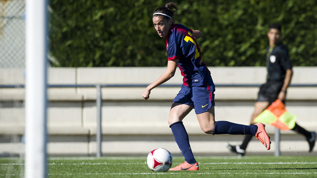 Olga scored a hat-trick / PHOTO: ARCHIVE - FCB