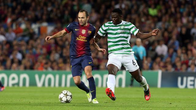 Iniesta, durant el partit jugat al Camp Nou / FOTO: ARXIU FCB