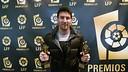 L'LFP distingeix Leo Messi com a millor jugador i millor davanter de la Lliga 2011/12 / FOTO: LFP