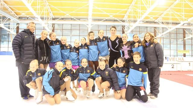 L'equip de patinatge blaugrana a Vielha / FOTO:FCB