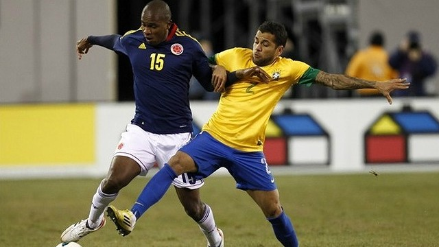 Alves with Brazil. PHOTO: fifa.com