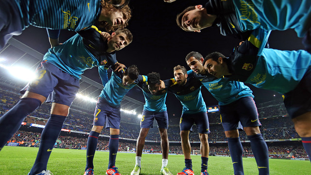 Barça players at Camp Nou / PHOTO: MIGUEL RUIZ - FCB