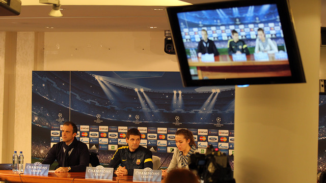 Tito Vilanova during today's press conference / PHOTO: MIGUEL RUIZ - FCB