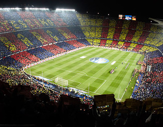 Camp Nou Mosaic slogan 'I love Barça'