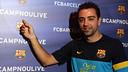 Xavi, protagonista del segon #CampNouLive. FOTO: MIGUEL RUIZ-FCB.