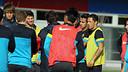 Adriano i Thiago s'han entrenat amb el filial / FOTO: MIGUEL RUIZ - FCB