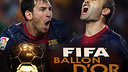 FIFA Ballon d'Or 2012 -Messi e Iniesta