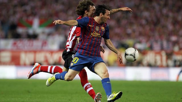 El último partido con el Athletic Club fue la final de Copa en el Vicente Calderón / FOTO: ARCHIVO FCB