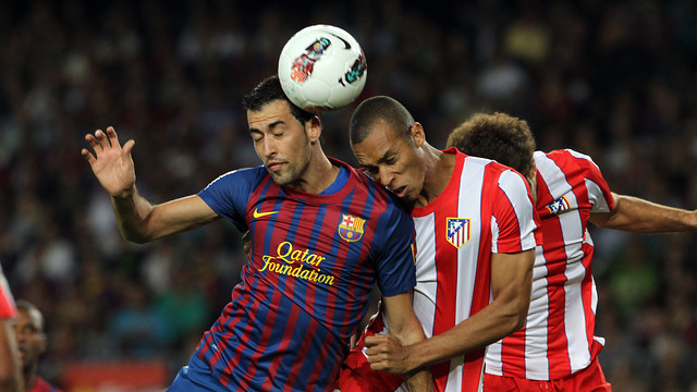 Busquets and Miranda / PHOTO: ARCHIVE FCB