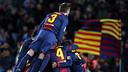 L'equip celebra un dels gols contra l'Athletic Club / FOTO: MIGUEL RUIZ-FCB
