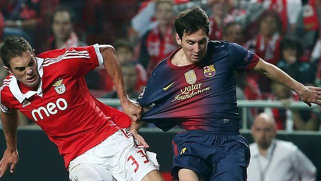 Messi, a Da Luz. FOTO: MIGUEL RUIZ-FCB.