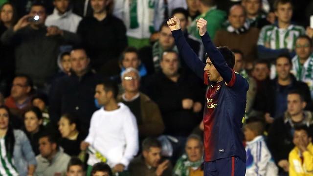 Messi ha superat Müller al camp del Betis / FOTO: MIGUEL RUIZ-FCB