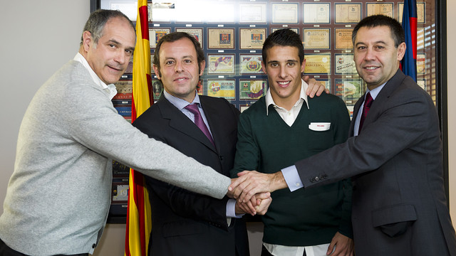 Zubizarreta, Rosell, Tello and Bartomeu / PHOTO: ÁLEX CAPARRÓS-FCB