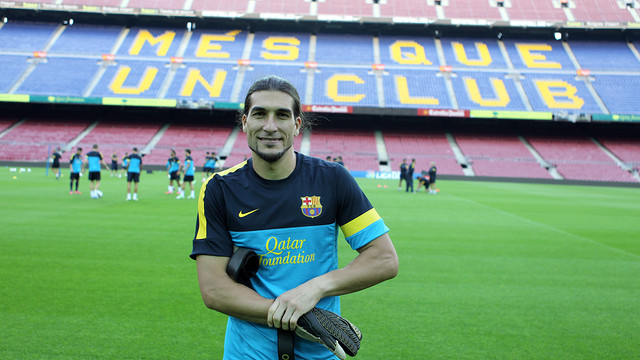 Agreement to extend Pinto contract to June 30, 2014 / PHOTO: MIGUEL RUIZ - FCB