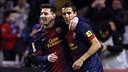 Messi i Tello, aquest dissabte a Valladolid / FOTO: MIGUEL RUIZ - FCB