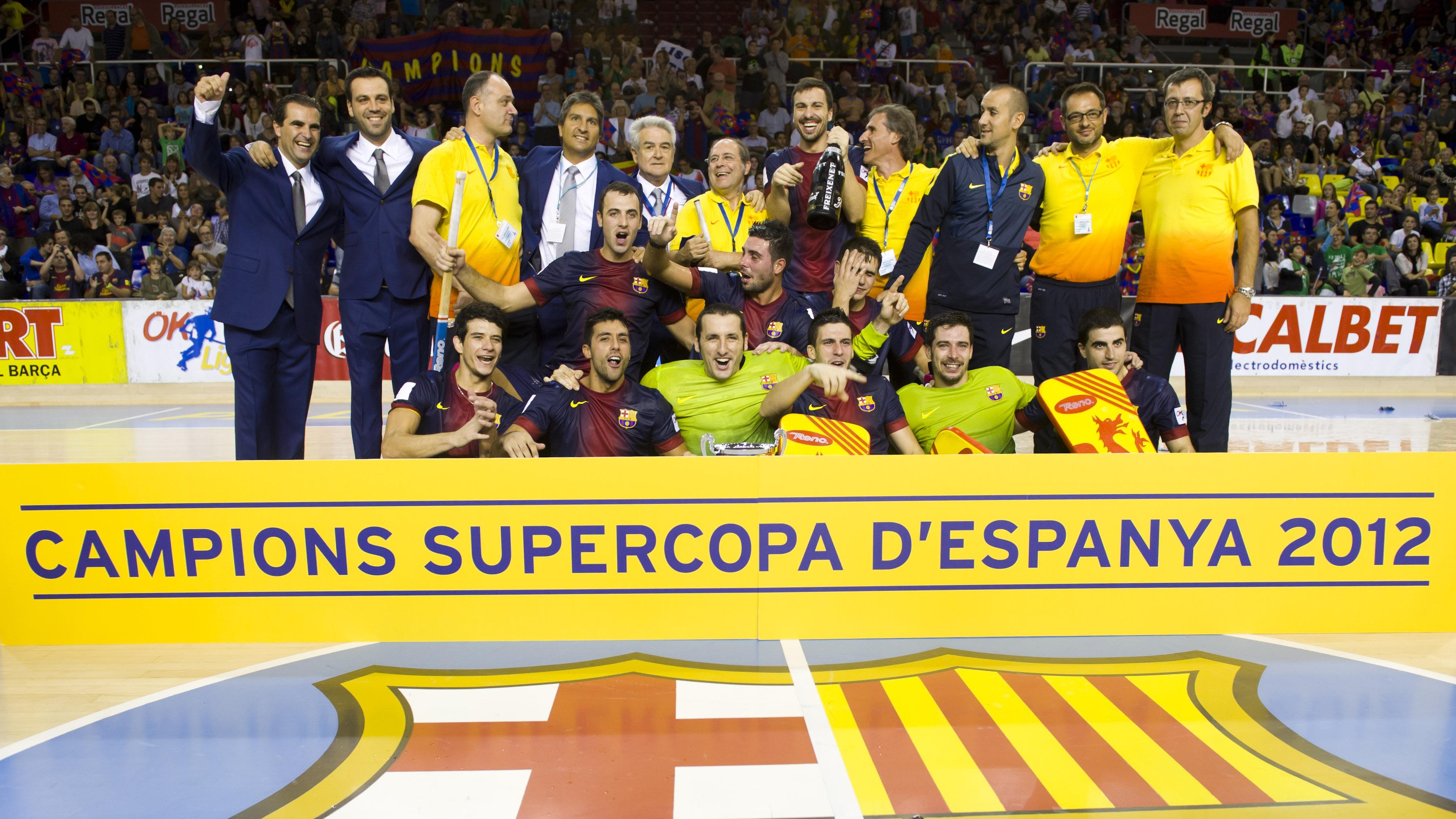 Imatge de l'equip després de guanyar la Supercopa d'Espanya 2012
