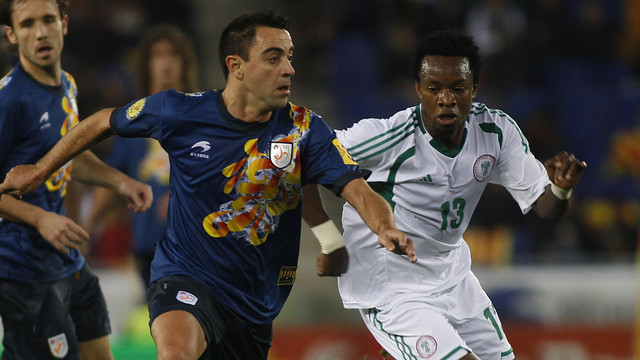 Xavi playing for Catalonia - / PHOTO: MIGUEL RUIZ - FCB