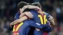 Contra l'Espanyol el FC Barcelona iguala la millor primera volta de la història, amb 52 punts / FOTO: MIGUEL RUIZ - FCB
