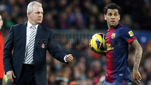 Aguirre at Camp Nou  PHOTO: ARXIU - FCB
