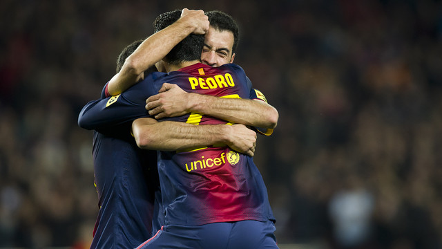 Goal celebration / FOTO: LEX CAPARRS-FCB