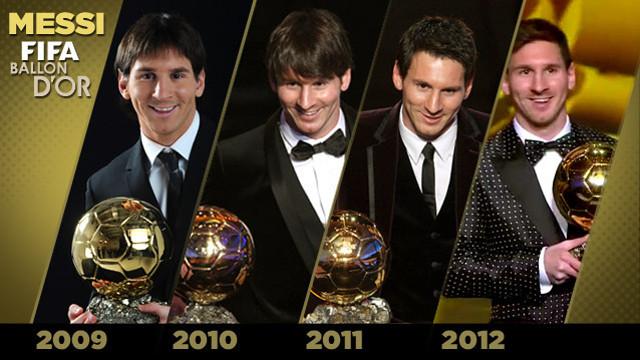 Messi ha aconseguit la seva quarta Pilota d'Or / FOTO: ARXIU - FCB