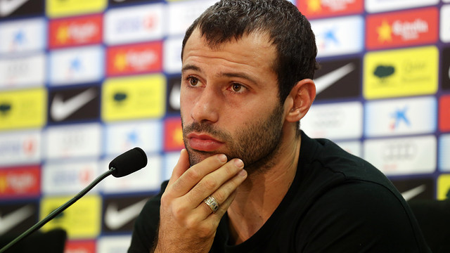Mascherano, press conference / PHOTO: MIGUEL RUIZ - FCB