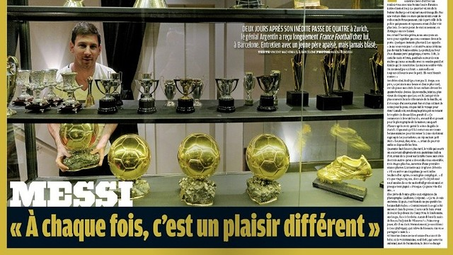 Messi, en la revista France Football