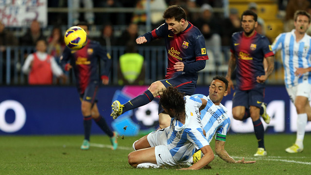 Leo Messi, pendant le match. PHOTO: MIGUEL RUIZ - FCB
