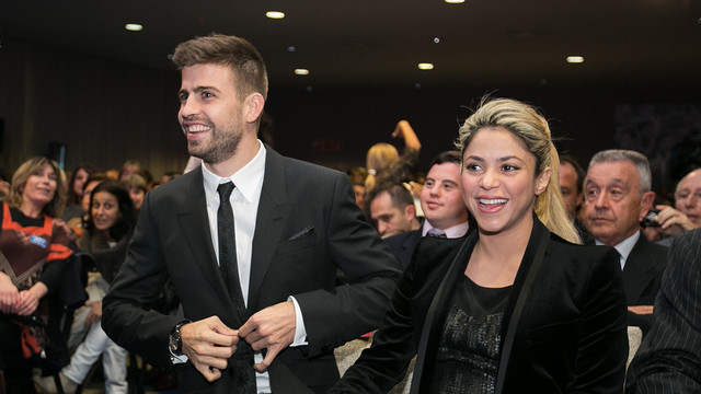 Gerard Piqué and Shakira /PHOTO: GERMÁN PARGA - FCB