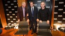 President Sandro Rosell, with Ferran Adrià and Carles Rexach / PHOTO: GERMAN PARGA - FCB