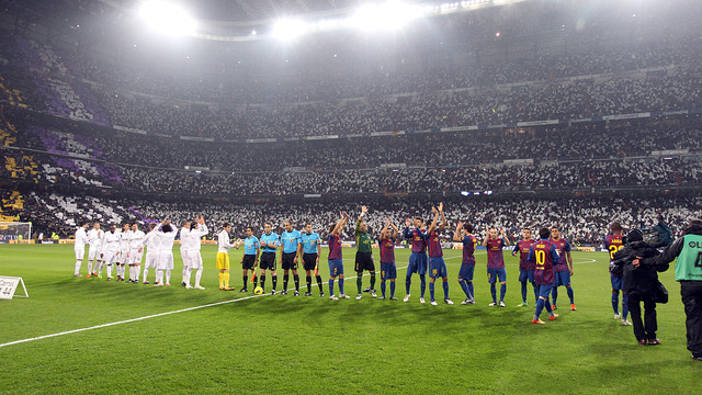 Real Madrid and FC Barcelona at the Bernabu / PHOTO: FCB ARCHIVE
