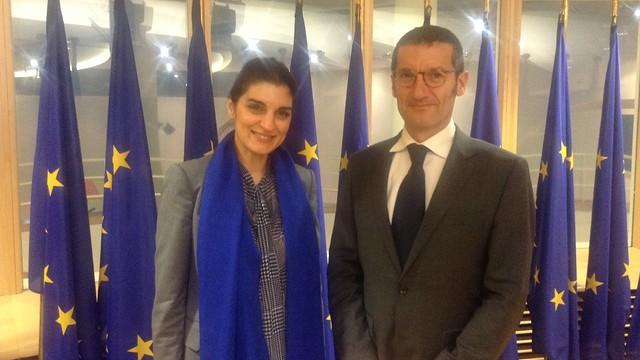 Director Jordi Monés and Despina Spanou, Directorate General for Health & Consumers