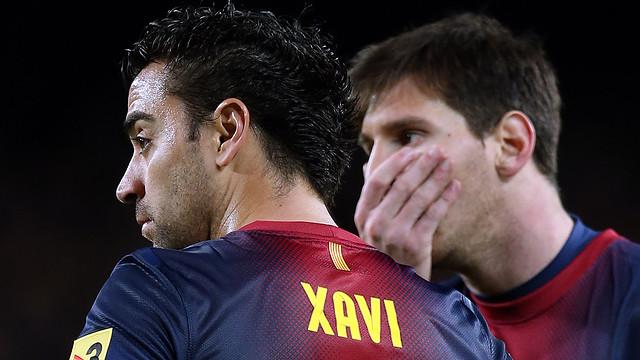 Xavi Messi FCB - Atlètico / FOTO: MIGUEL RUIZ - FCB