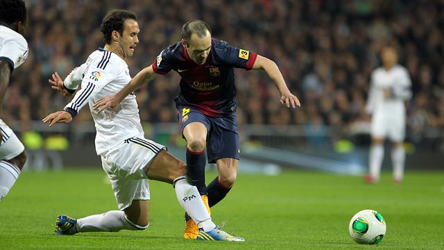 Iniesta at Santiago Bernabéu  FOTO: MIGUEL RUIZ-FCB.