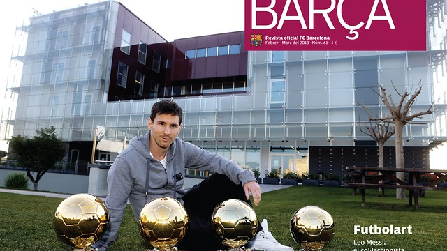 Messi and the four Ballon d'Or in BARÇA MAGAZINE