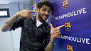 Timelapse: Google+ Hangout with Dani Alves / PHOTO: ÀLEX CAPARRÓS - FCB