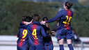 Las jugadoras del Femenino A celebrando un gol / FOTO: ARCHIVO - FCB