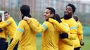 Song, Thiago and Cesc / PHOTO: MIGUEL RUIZ-FCB
