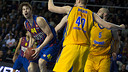 Tomic vs Khimki. PHOTO: GERMÁN PARGA-FCB.