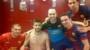 The players after the Champions League Match / PHOTO: ANDRÉS INIESTA