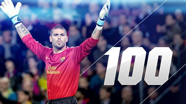 Contra el Milan Valdés celebró 100 partidos en la Liga de Campeones