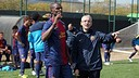 Abidal and Dos Santos, against Istres