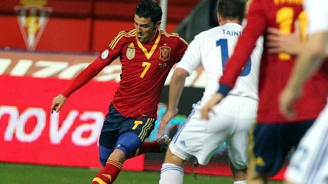 Villa volvió a jugar en El Molinón / FOTO: FIFA.COM