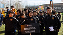 The FCBEscola Siheung at the presentation of the Tournament / PHOTO: GERMN PARGA - FCB