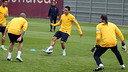Adriano has returned to work with the squad. PHOTO: MIGUEL RUIZ-FCB