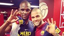 The world of football celebrates Abidal's return