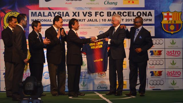 Aquest dijous s'ha presentat l'amistós de Kuala Lumpur / FOTO: FCB