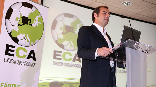 Rosell, during his speech / PHOTO: MIGUEL RUIZ-FCB